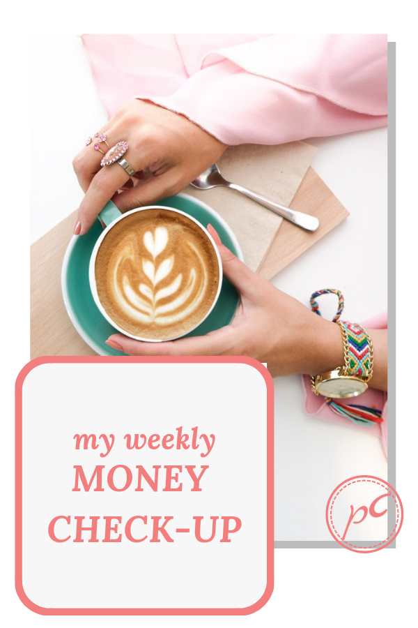 A weekly money check-up. 5 questions to review how my week was.