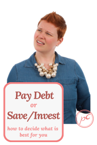 Personal finance tips to help you decide whether you should retire high cost debt or save and invest. Choosing between paying off debt or investing for financial freedom can be simple if you follow these guidelines.