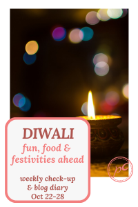 Diwali is roughly a week away. Have a travel planned before that. And the blogging. This weeks plans were super ambitious. How did I do?