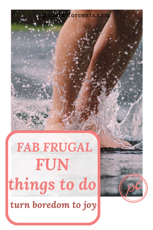 feet splashing water with text fab frugal fun things to do