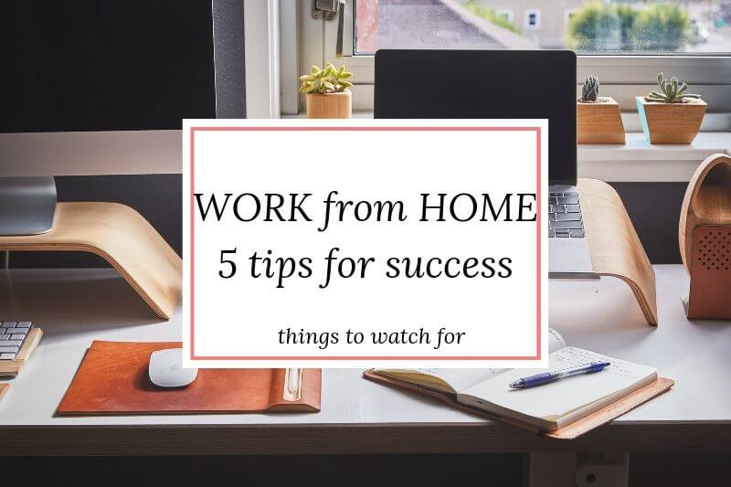 Work from Home: 5 tips for success
