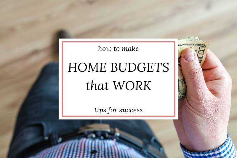 "text overlay ""how to make household budgets that work: tips for success"""