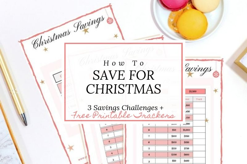 Christmas Savings Challenge with free printable trackers