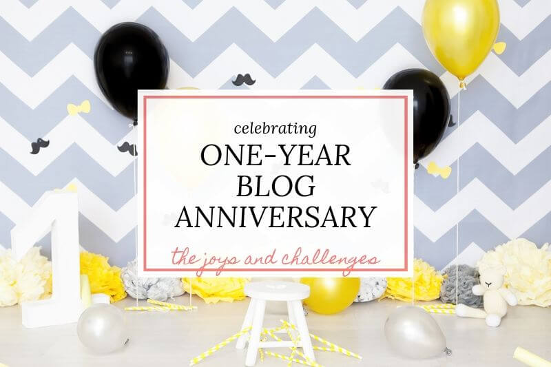 one year blog anniversary celebrations