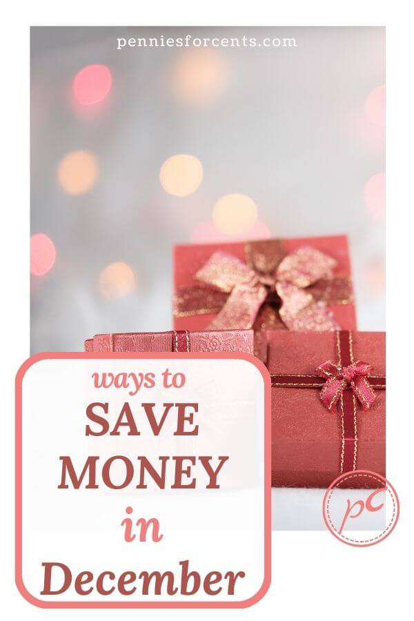 ways to save money in December