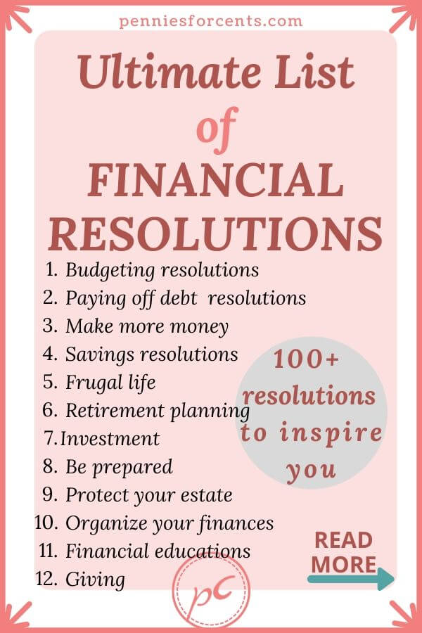 list of financial resolutions