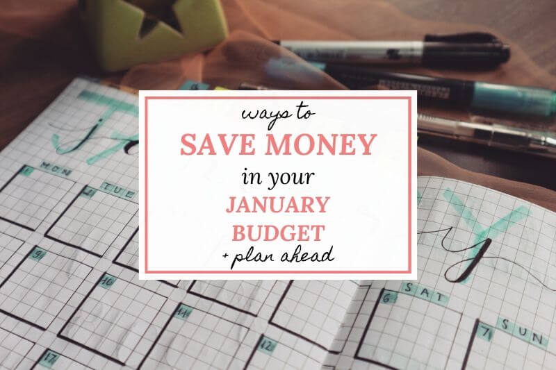 how to save money January